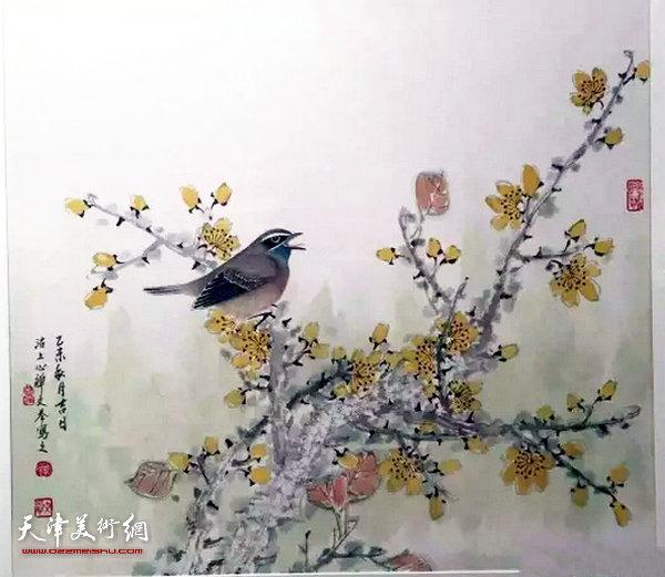周文举花鸟画作品。