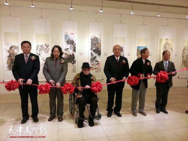 """""""丹青有约一天津画院美术作品展""""12月19日在台湾孙中山纪念馆开幕。"""