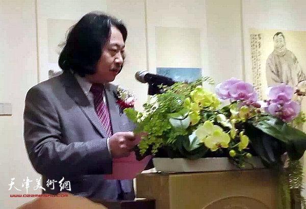 图为天津画院院长贾广健致辞。