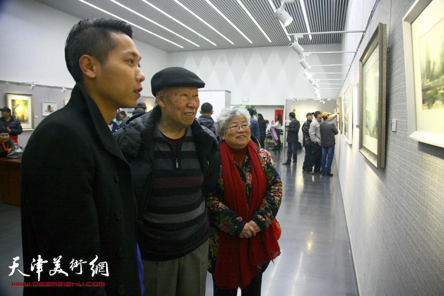 自游·自在—石增琇水彩画作品展在天津图书馆开幕
