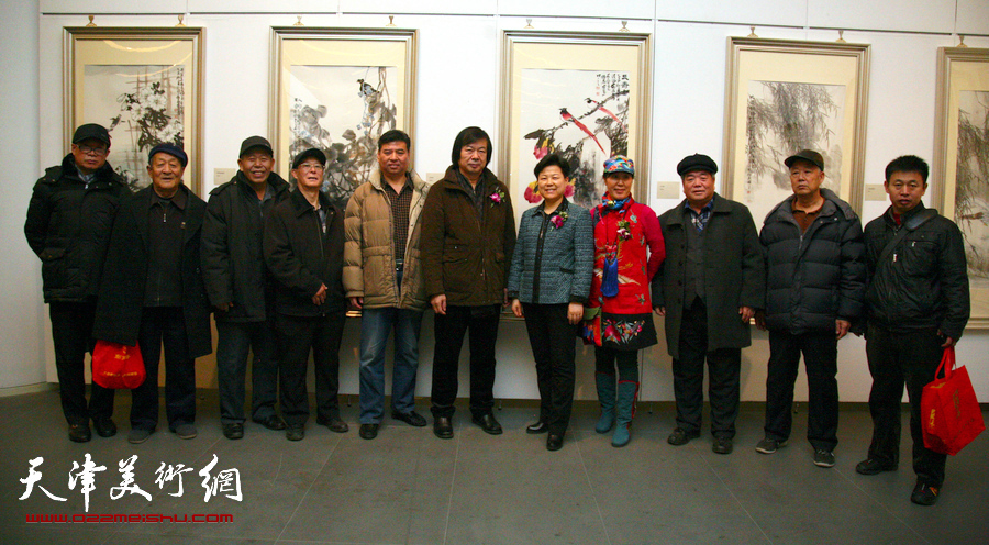迎新年-津南区美术书法精品展在天津美术馆开幕