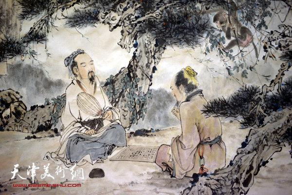姬振岭作品《松下鏊兵图》(局部)
