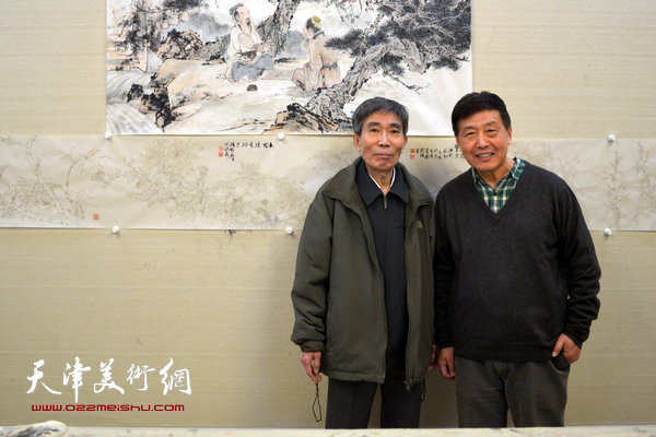 姬振岭与刘学仁在天津美术网