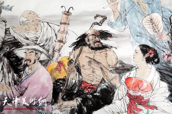 王春涛新作:《八仙过海》(局部)