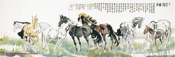 面壁挥毫写汉马——画家孙伯涛小记 |中国画|天津美术图片