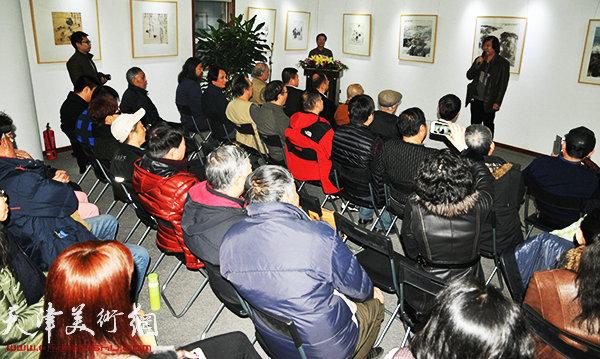 笔精墨妙—天津国画五人展在大雅书画院开幕