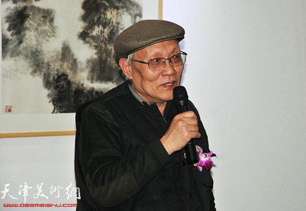 著名山水画家孙长康致辞。