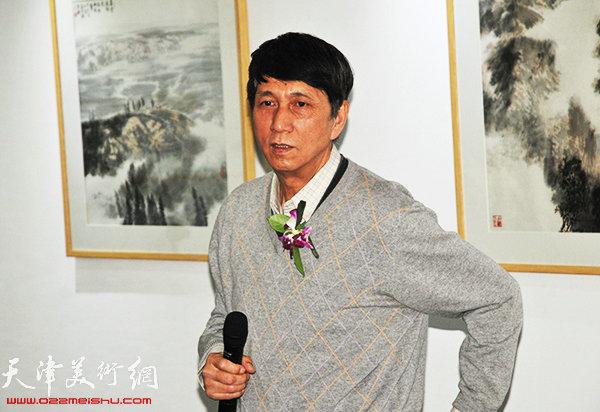 原天津美协副主席张寿庠致辞。