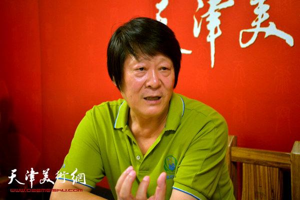 著名画家徐守渭做客天津美术网