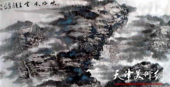 徐守渭作品《峡谷风云》