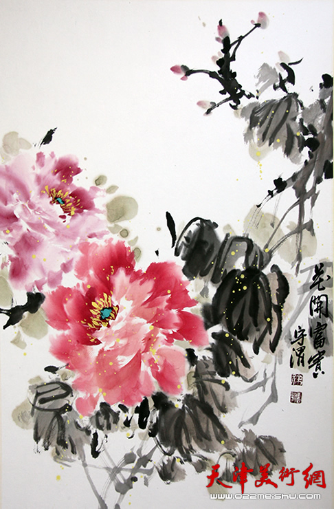 徐守渭作品《花开富贵》