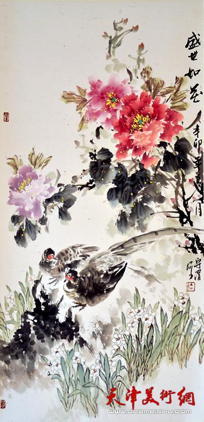 徐守渭作品《盛事如花》