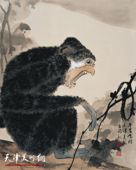 周午生作品《猿》