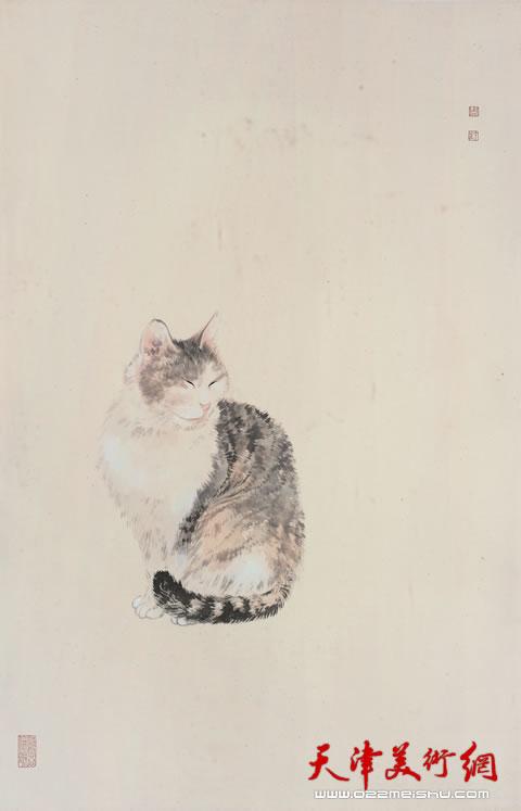 周午生作品《猫》