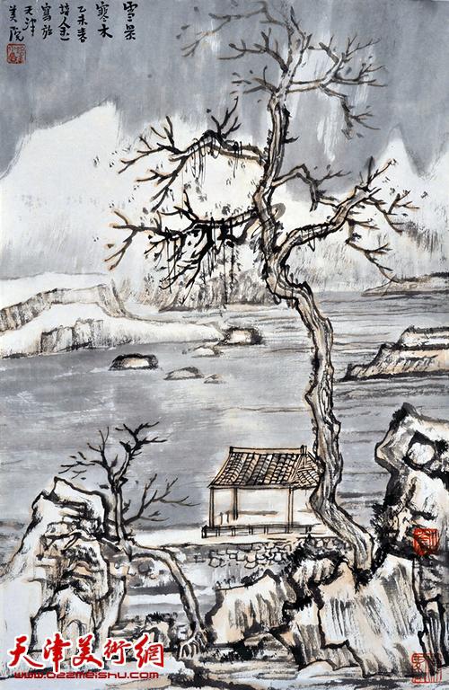 肖培金作品《秋景寒木》