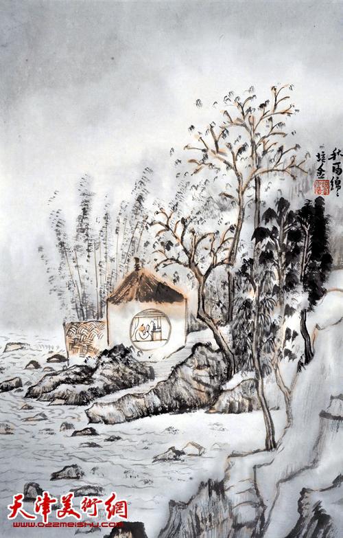 肖培金作品《秋雨绵绵》