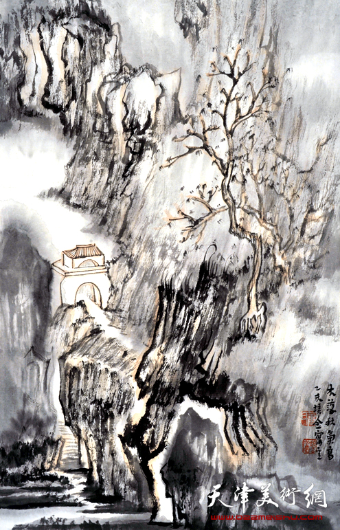 肖培金作品《木落秋气离》