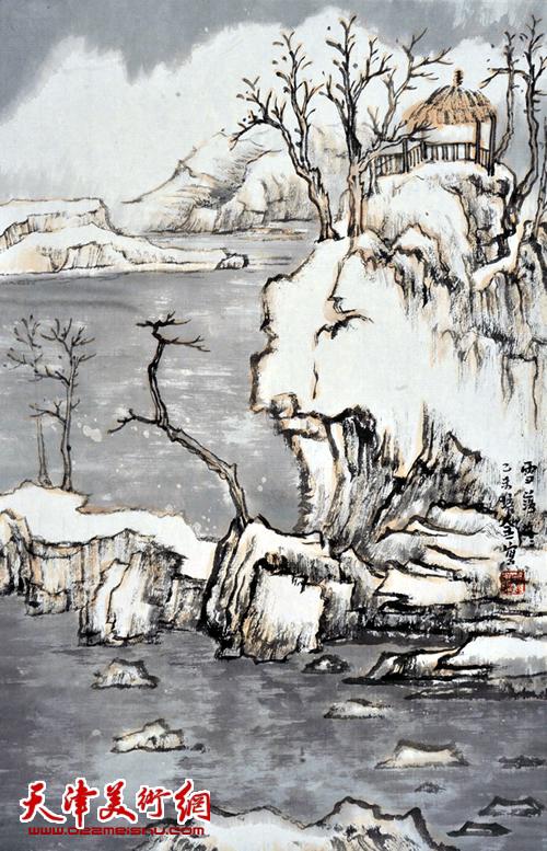 肖培金作品《雪落茫茫》
