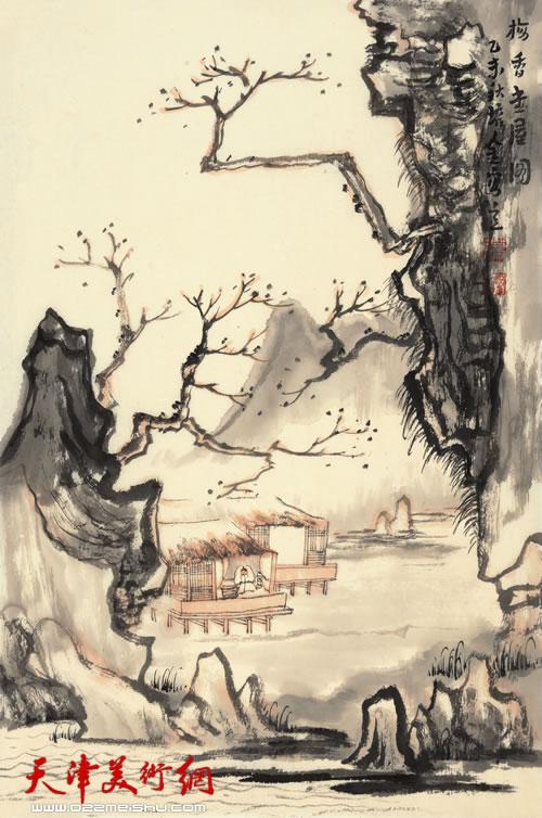 肖培金作品《梅香书屋图》