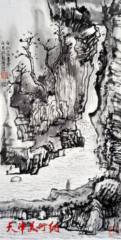 肖培金作品《恰似一江春水向东流》