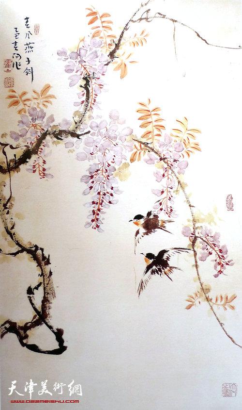 霍春阳作品:春风燕子斜