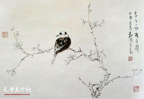 霍春阳作品:春鸟一啭有千声