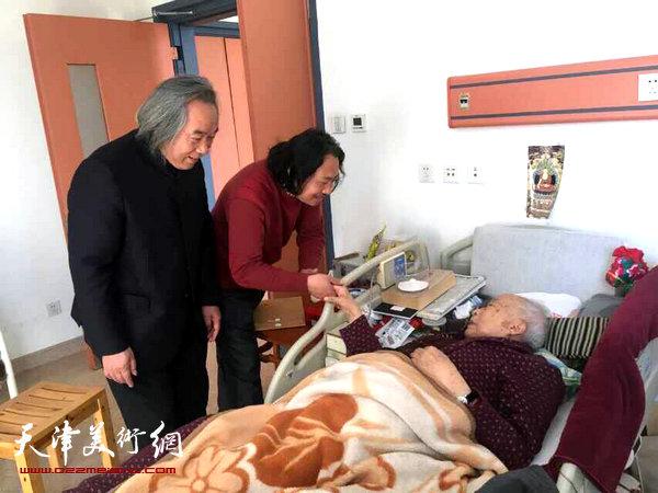 霍春阳、贾广健探望画坛名宿孙其峰先生
