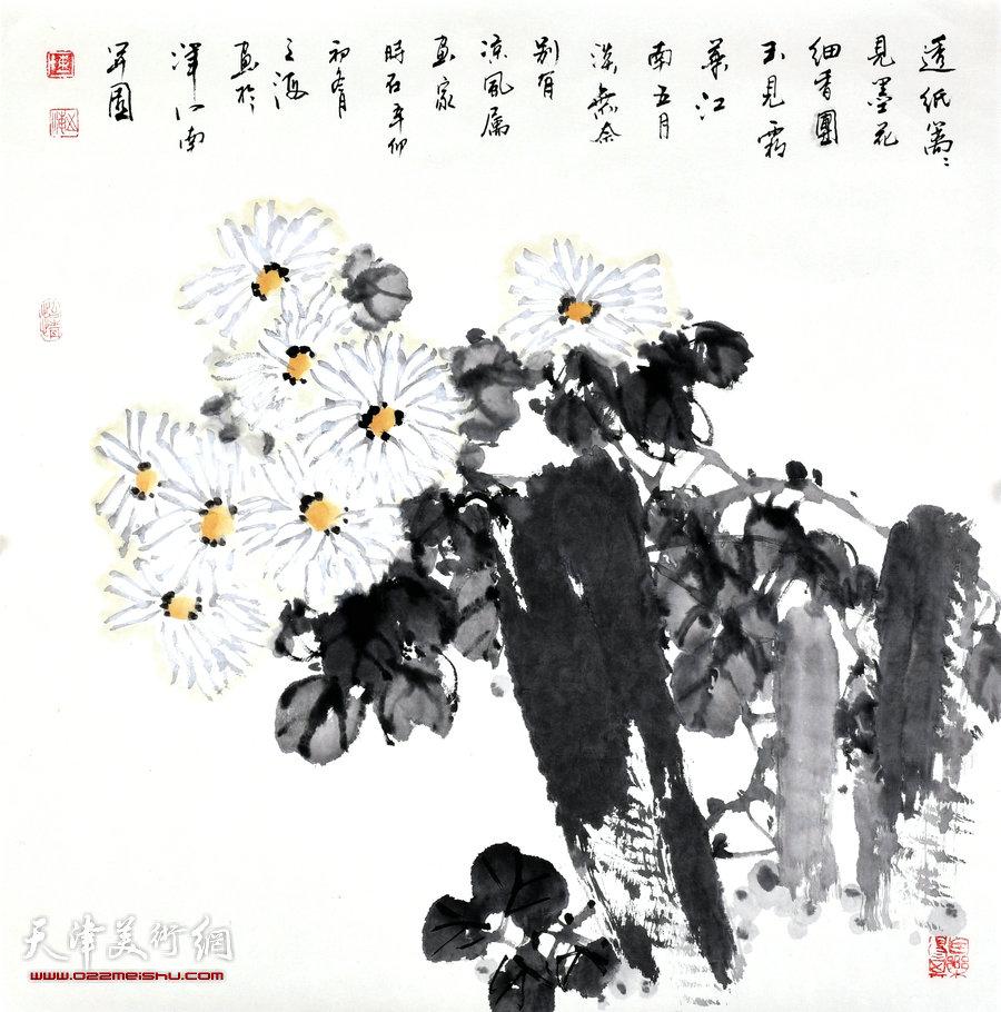 天津著名画家陈之海花鸟画作品
