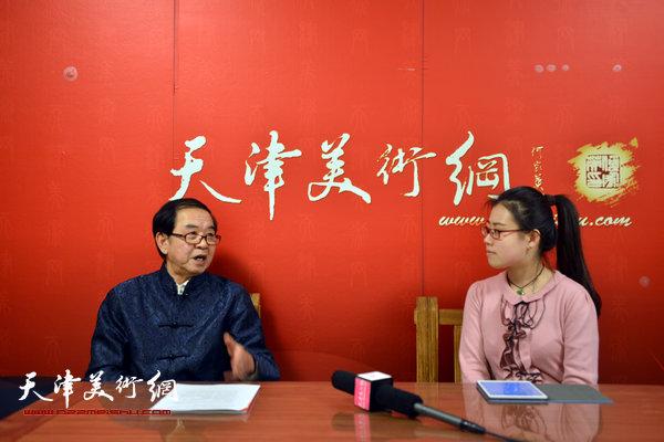 著名书法家张长勇做客天津美术网