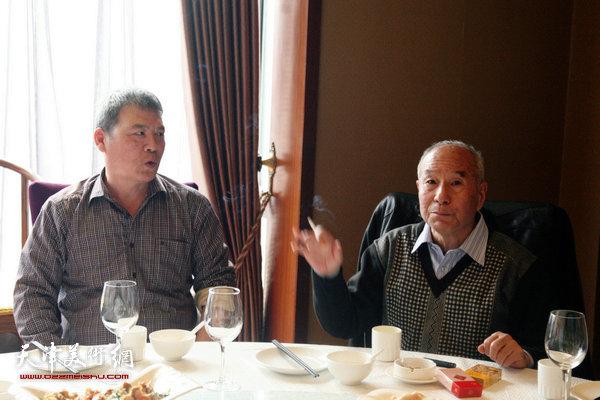 津门画坛名家左月丹先生逝世三周年追思会现场