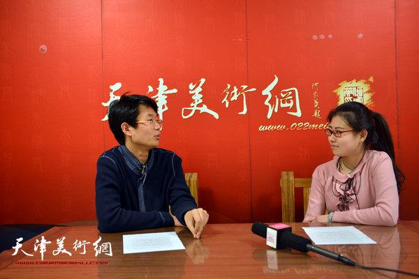 青年画家王盟做客天津美术网