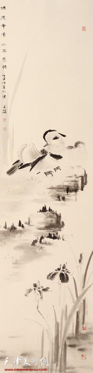 王盟作品《玄墨真趣》-2 第八届全国花鸟作品展金奖作品