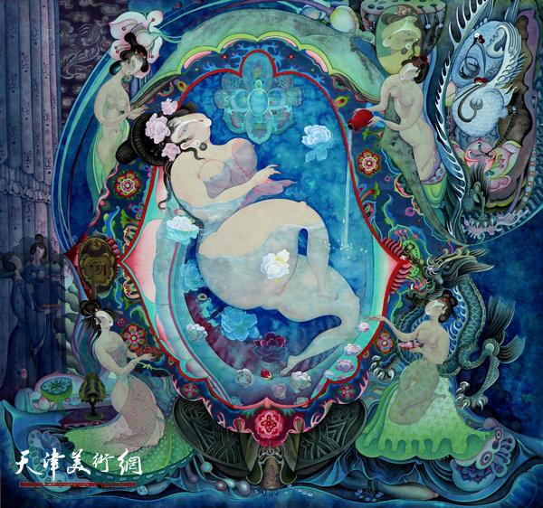 李寅虎作品:《贵妃沐浴》