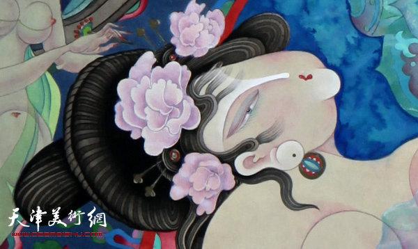 李寅虎作品:《贵妃沐浴》 (局部)