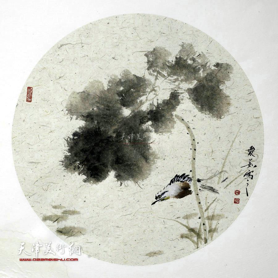 境由心造-万博manbetx安卓版女画家吕爱茹花鸟画作品。欣赏