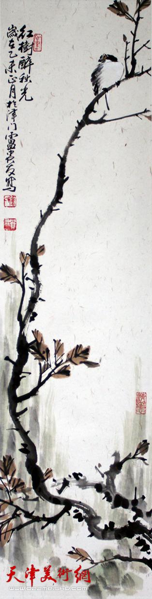 卢贵友作品《红树醉秋光》