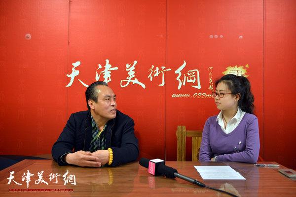 著名画家李寅虎做客天津美术网