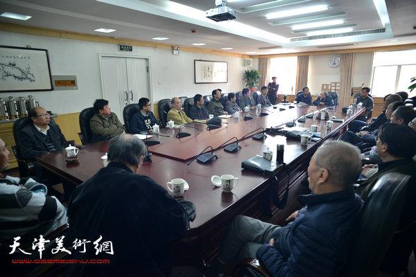 """""""梁崎研究座谈会""""3月31日在天津市文史研究馆举行。"""