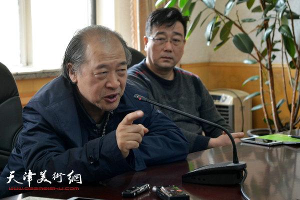 天津美术家协会主席王书平。