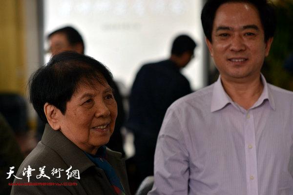 天津市政府参事室、文史研究馆党组书记刘志永与梁霄鸾。