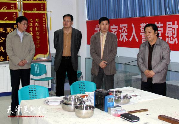 天津市美术家协会秘书长李耀春、副秘书长潘津生4月13日来到西青区美术家协会进行调研、指导工作。