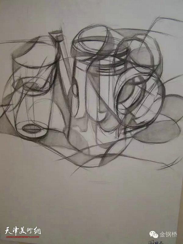 天津美术学院设计基础部设计素描课程汇报展图片