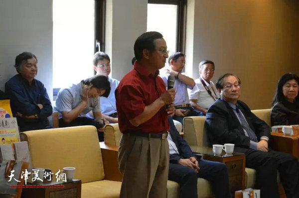 前美国能源部联邦高级主管、台湾旅美国际知名核能专家吴全福博士在尹沧海教授书画展开幕式茶会上致辞