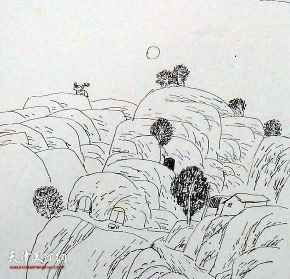 岸边的柳树怎么画