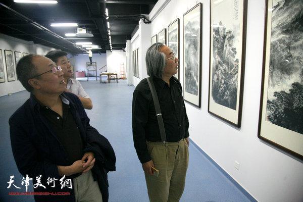 著名国画家霍春阳在金带福路文化传播中心天津美术网艺术馆。