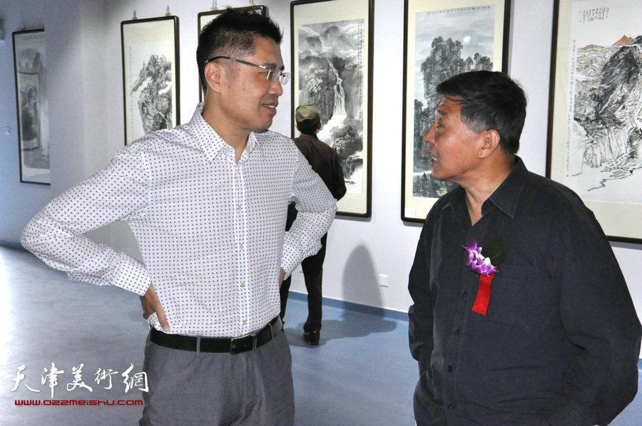 天津金带福路文化传播中心落成 首办山水画邀请展