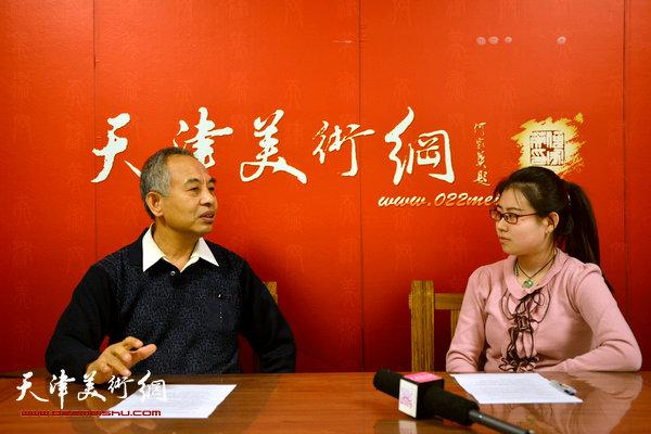 著名画家马凤柏做客天津美术网访谈