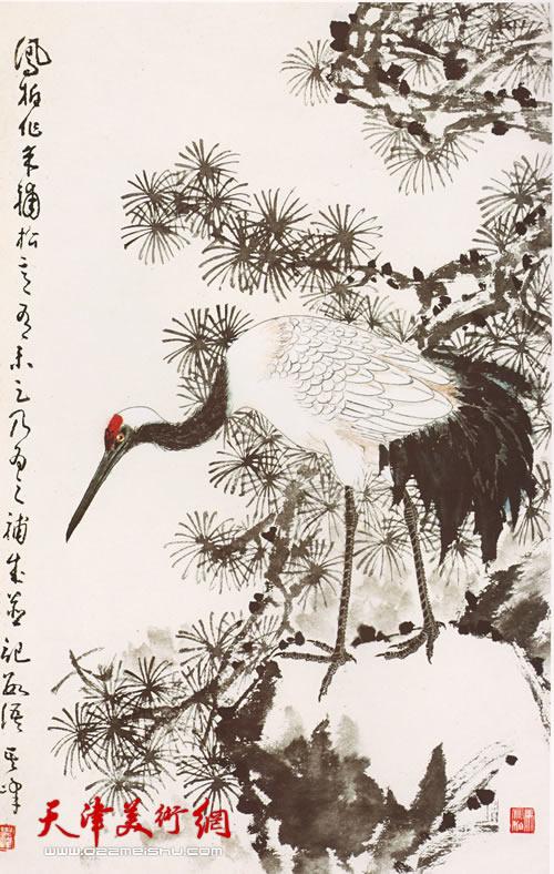 松鹤图(作者与恩师合作)