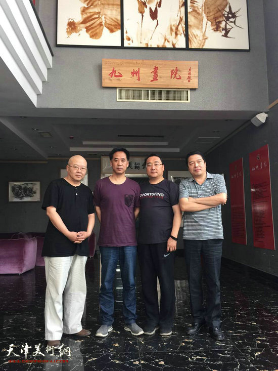 杨志刚、董克诚走访青州九州美术馆。