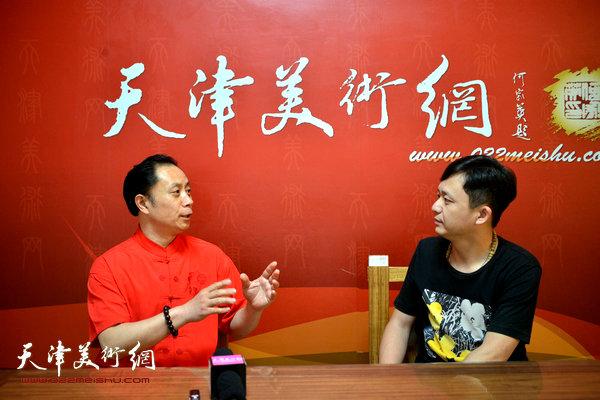 著名画家张大功做客天津美术网 (3)